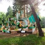 Клеменс Бер, Импровизированная архитектурная инсталляция, Арт-Овраг 2013